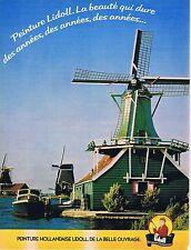 PUBLICITE ADVERTISING 114 1979 LIDOLL peinture Hollandaise