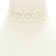 Ivory Floral Lace Choker