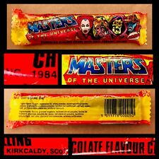 Vintage 1984 Alma MASTERS OF THE UNIVERSE Candy Bar SEALED container bubble