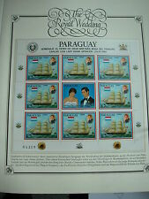 a. Abo UK The Royal Wedding Charles+Diana Hochzeit KLeinBogen PARAGUAY 9 Werte