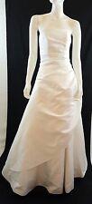 DAVIDS BRIDAL Michaelangelo White Strapless Formal Wedding Dress Gown Size 6