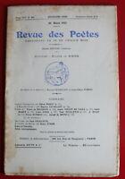 1911 - Revue des Poètes - N° 154 - Ch. Grandmougin, P. de Feuillette, J. Galzy