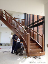 Black Walnut timber grand staircase, (price for one tread and riser)