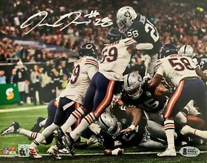 JOSH JACOBS SIGNED OAKLAND RAIDERS 8X10 PHOTO BECKETT BAS WITNESS LAS VEGAS JUMP