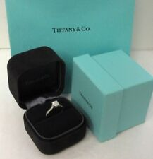 TIFFANY & Co. Platinum .77ct Lucida Diamond Engagement Ring 5.5