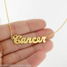 Cancer Necklace - 24k Gold Plated Brass - Gold Zodiac Horoscope Constellation