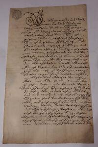 Sittenzeugnis 1756 Triebel (Trzebiel) Niederlausitz Polen - Witwe Thomisch
