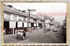 50s THAILAND BANGKOK PAT PONG ROAD SHOP CLOTHES STREET SCENE Vintage Photo 28547