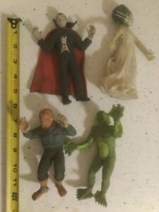 4 Universal Studios Imperial Stretchable Rubber Toy Lot Dracula Monsters Vintage