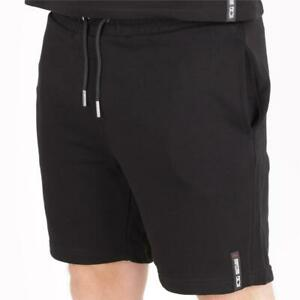 Mens Societe Noir Loopback Shorts Black (SNA1) RRP £49.99