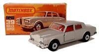 Vintage 1978 Matchbox Superfast #39 Rolls Royce Silver Shadow II Original Box