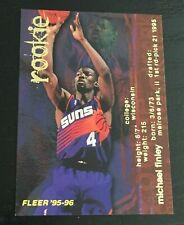 1995-96 Fleer MICHAEL FINLEY RC #291 basketball card ~ Phoenix Suns rookie ~ F1