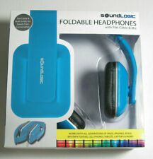 New SoundLogic Foldable Headphones with Flat Cable & Mic Priority Shipped
