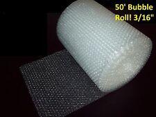 "50 pies envoltura de burbujas ® rodar! 3/16"" (pequeño) Burbujas! 12"" de ancho! perforado cada 12"""