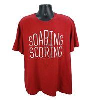 Nike Air Jordan Soaring & Scoring Jumpman Men's XXL Graphic T-Shirt Red 2XL