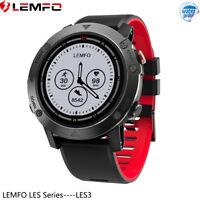 LEMFO LES3 Impermeable Reloj Inteligente GPS Frecuencia Cardíaca Para Xiaomi IOS