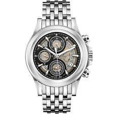 Bulova Accu Swiss Men's 63B170 Kirkwood Automatic Skeleton Dial 42mm Watch