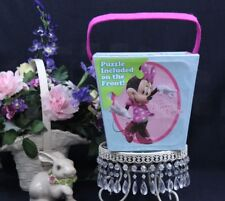 Halloween DISNEY Minnie Mouse Puzzle PAPERBOARD Bucket 3+ New I-37  I-38