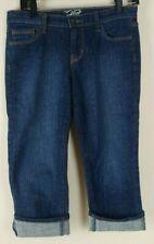 OLD NAVY Womens Sz 2 The Flirt Dark Wash Stretch Capri Cropped Denim Pants Jeans