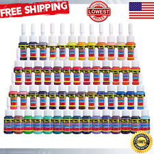 Skin Tattoo Ink Set 54 Pack Primary Color Pigment Professional Supply Kit 5ml