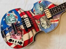 Hofner Bass Guitar The Beatles 'Let It Be' Hand Painted Union Flag ONLY