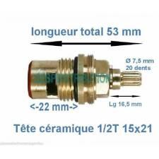 """Tête céramique GROHE compatible 1/2 Tour filetage15x21 1/2"""""""