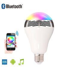 Mini Smart LED Blub Light Wireless Bluetooth Speaker 3W Samsung Cell Smartphone