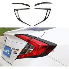 Carbon Fiber Taillight Cover+Tail Lamp Accessories For Honda Civic Sedan 2016 17