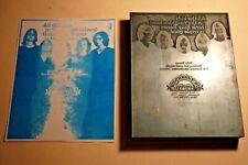 1960s Printing Letterpress Printer Block Decorative Print Cut Billy Bones