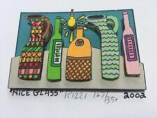 """James Rizzi: original 3D """"NICE GLASS"""", handsigniert, 81 RIZZI PRINTS, Mini 2002"""