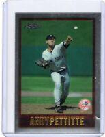 1997 TOPPS CHROME BASEBALL CARD # 20 -  ANDY PETTITTE - NEW YORK YANKEES