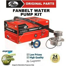 GATES WATER PUMP + FAN BELT KIT for OPEL TIGRA TwinTop 1.3 CDTI 2004->on