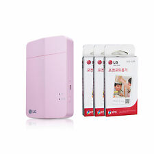 LG Pocket Photo3 PoPo PD251 Portable Mobile Printer + Zink 90 Sheets  Pink