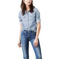 Levi's Women's Ultimate Western Shirt, Love Blue, Medium, Small Talk, Size Large