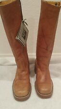 $328 Frye Womens Campus 14L #77050 Leather Pull On Boots Saddle SZ 6- NWT