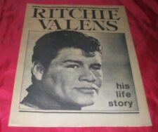 Ritchie Valens His Life Story Rare Fanzine Magazine 1981 Rhino Records
