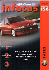 Alfa Romeo In Focus Late 1997 UK Market Foldout Sales Brochure 145 146 156 GTV