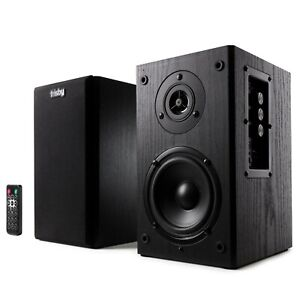 Frisby Powered Bluetooth Bookshelf Speakers 2.0 Active Monitor Speaker System