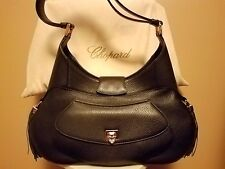 CHOPARD Madrid Black Calfskin Leather Handbag