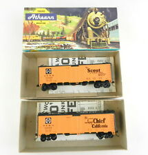 Athearn Bb Ho 5021 Scout + 5023 Super Chief Atsf 40' Reefer Cars ~Built~ T118