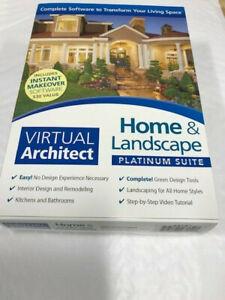 Virtual Architect Home & Landscape Platinum Suite PC WIN 7/8/10 NEW!