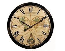 Orologio elegante da parete gigante in legno vintage diametro 58cm serie Mondo
