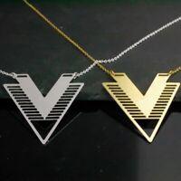 Halskette mit Muster -Grafik- Dreieck - geometrisch Mandala modern - gold silber