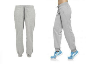Reebok Women's Grey French Terry Loose Fitted Jogging Bottoms Size 4XL X35829