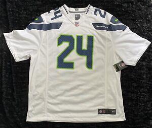 NWT, Authentic, Marshawn Lynch Nike Onfield Seahawks Jersey-Mens Size XXL