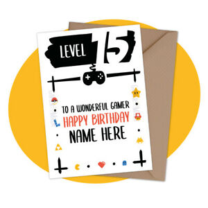 PERSONALISED BIRTHDAY CARD - Retro Gamer - personalized video game gamer