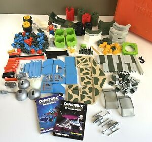 Vintage Fisher-Price Construx Lot Pieces and Case