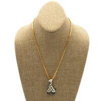 Vintage Designer Eisenberg Gold Tone Enamel Giraffe Pendant Costume Necklace