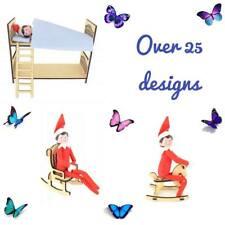 Wooden Mdf Elf on a Shelf Accessories Furniture Christmas Sign Bed Chair Gift