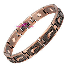 Ladies Magnetic Bracelet Antique Copper Plating Dolphin Arthritis Bio Bangle